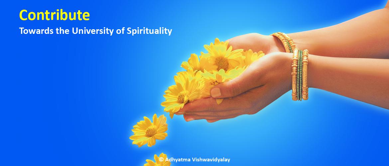 Contribute towards the University of Spirituality